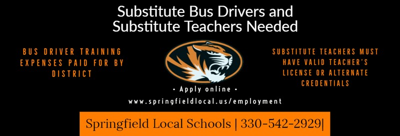 Graphic for substitute bus drivers and teachers.
